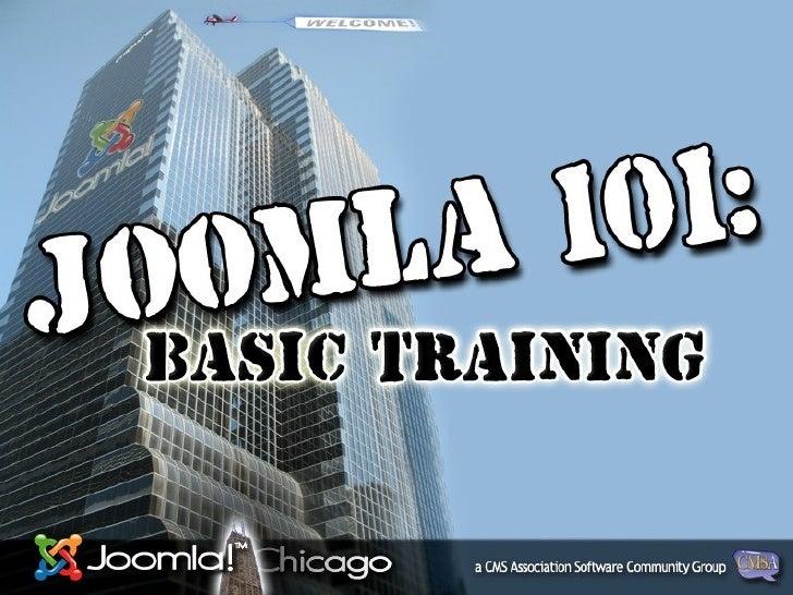 Joomla Basics101