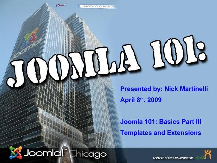 Joomla Basics Part3
