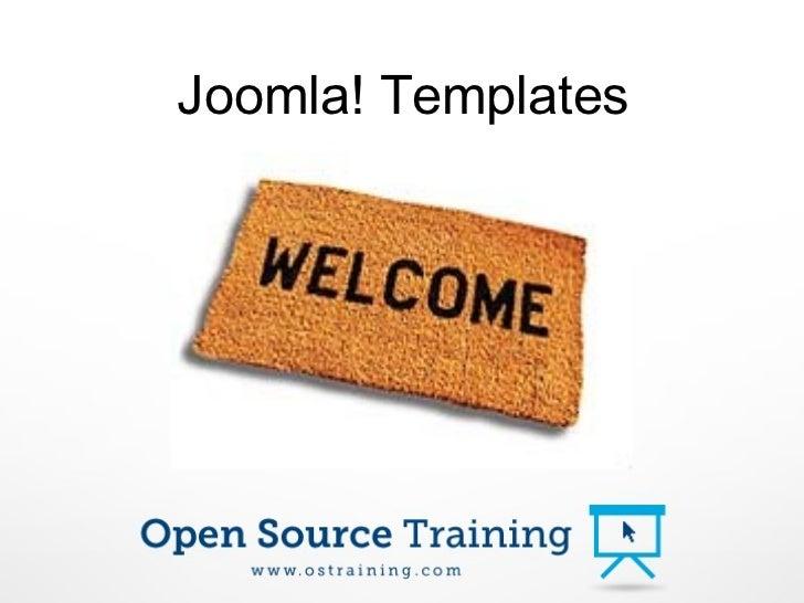 Joomla Beginner Template Presentation