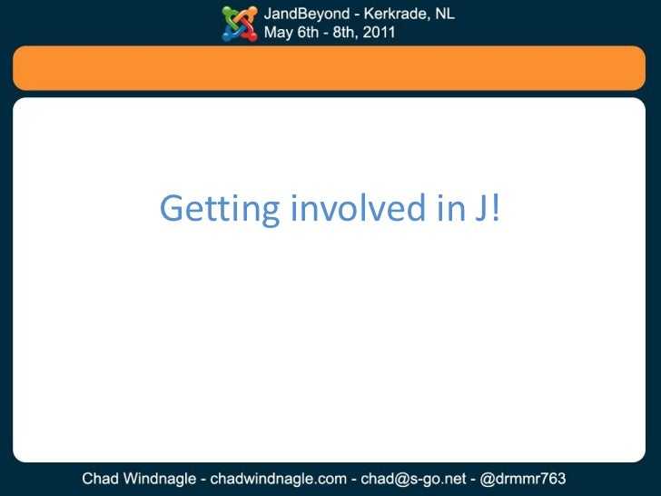 Getting Involved in the Joomla Community