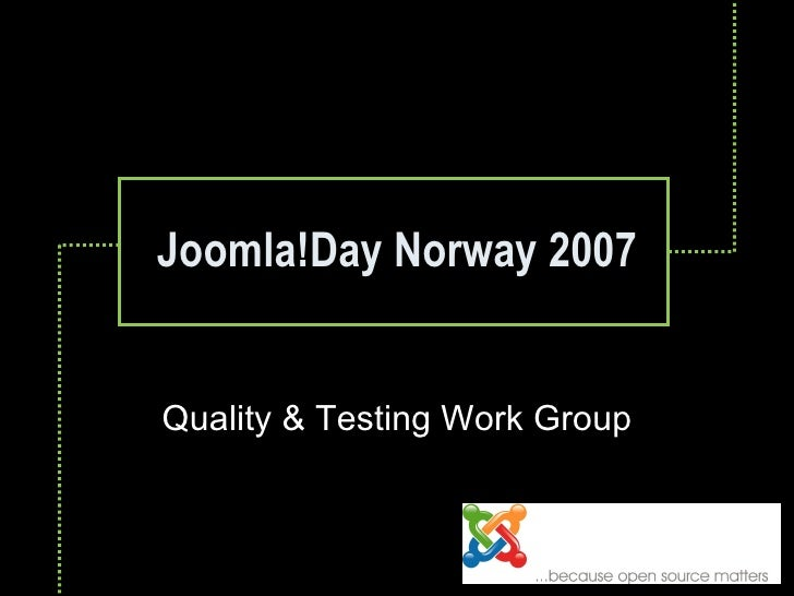 Joomla!Day Norway 2007