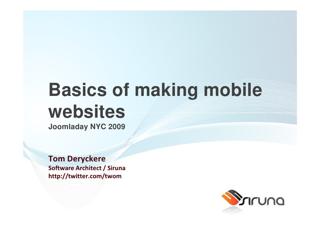 Building Mobile Websites with Joomla