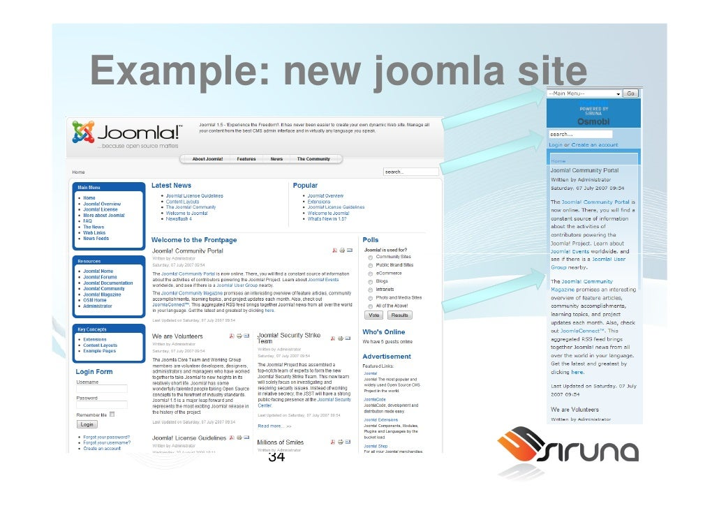 websites with joomla 2 how to install joomla when it comes to installing joomla to your website, you have two options: manual and automatic installation the automatic installation, more exact, the.
