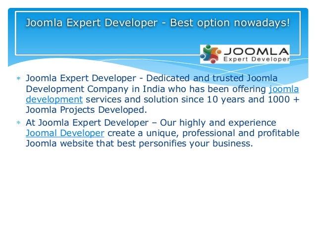 Joomla Expert Developer - Dedicated and trusted JoomlaDevelopment Company in India who has been offering joomladevelopment...