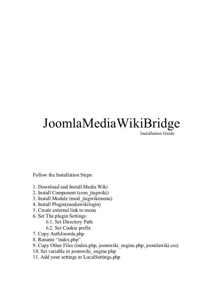Joomla MediaWikiBridge