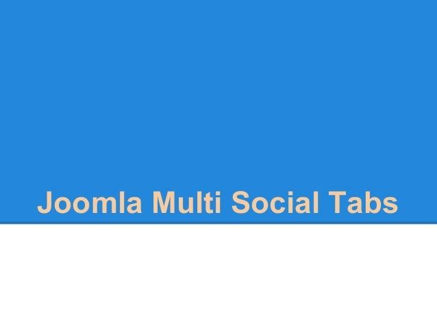 Joomla Multi Social Tabs