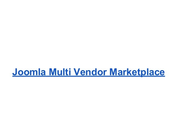 Joomla Multi Vendor Marketplace