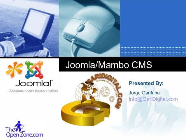 Joomla Content Management Systems, Part 3