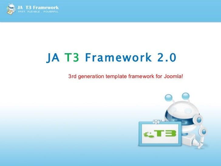 JoomlArt T3 v2.0 Template Framework for Joomla