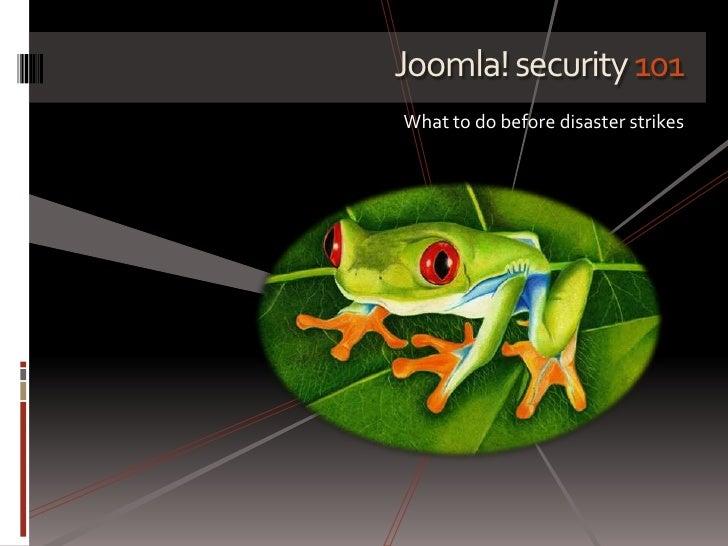 Joomla! security 101