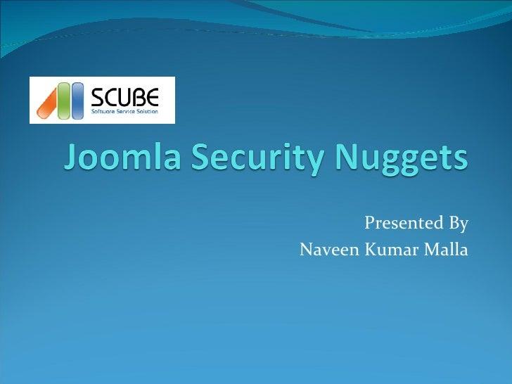Joomla security nuggets