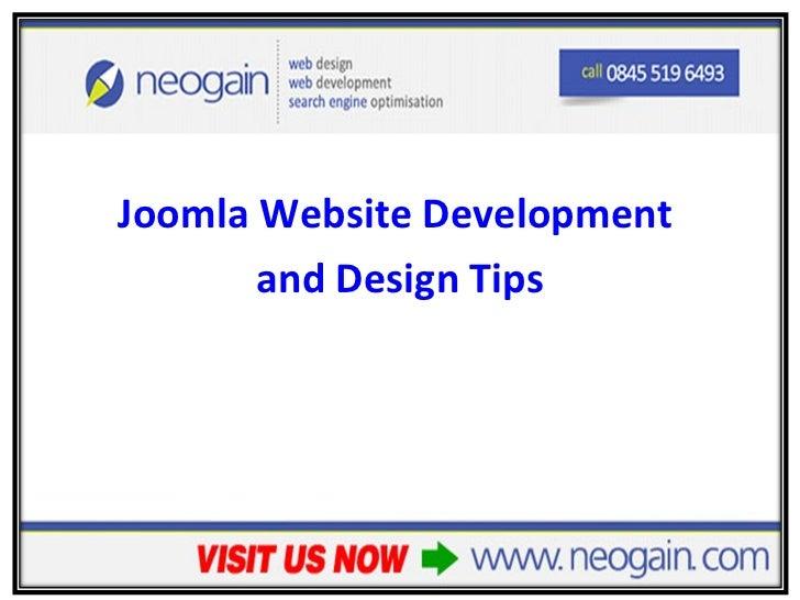 Joomla Website Development and Design Tips