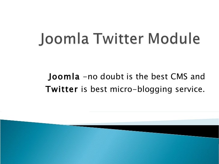 Joomla Twitter Module