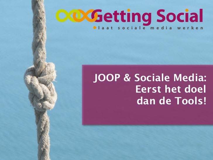 Workshop sociale media voor JOOP.