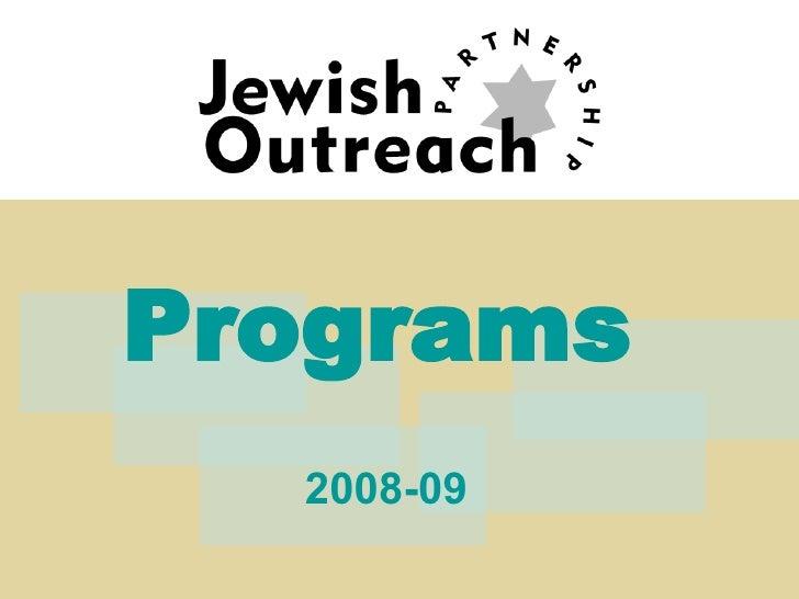 Programs   2008-09
