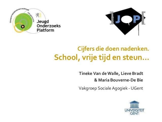 Voor blogpost: niet mijn presentatie: Bevindingen over de vrije tijd, schoolbeleving en sociale steun bij jongeren
