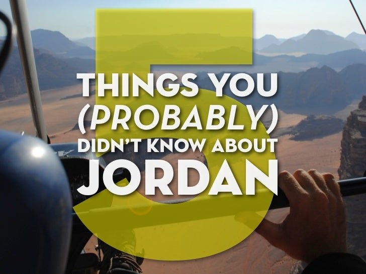 5things you(PROBABLY)didn't know aboutjORDAN