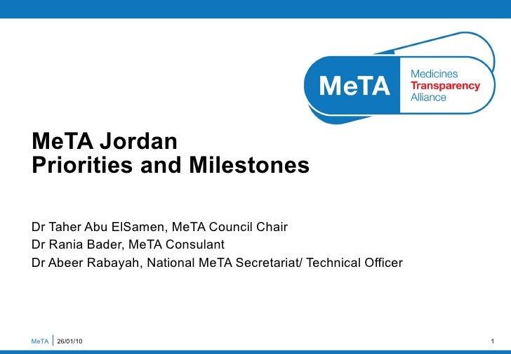 Jordan National Priorities And Milestones