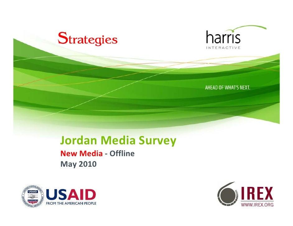 JordanMediaSurvey NewMedia ‐ Offline May2010                          1