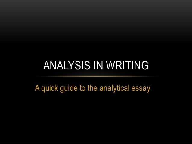 Analytical essay on what are thics