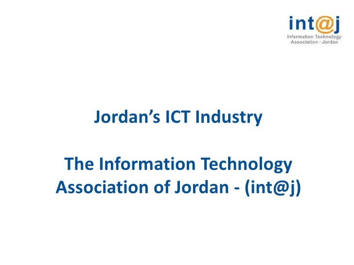 Jordan's ICT Industry   The Information Technology Association of Jordan - (int@j)