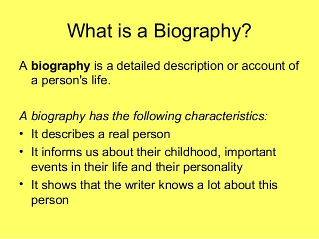 biographical characteristics What is a biographical entry save cancel already exists biographical characteristics are personal traits that can be observed and recorded in personnel files.