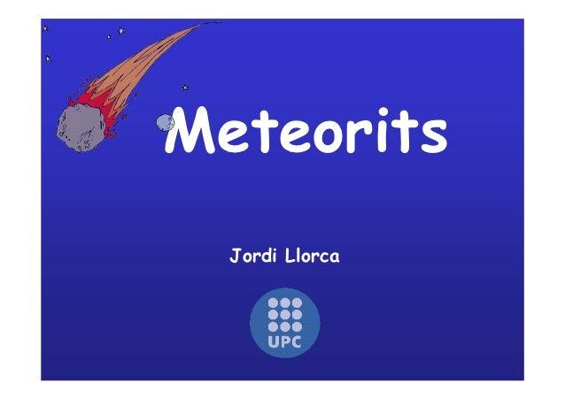 Meteorits  Jordi Llorca