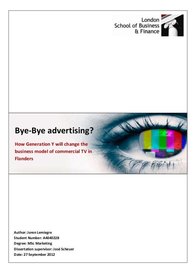 essay about television commercials