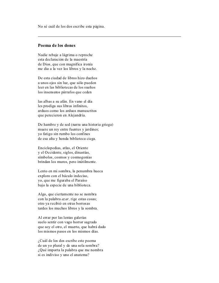 Jorge Luis Borges ultimo poema