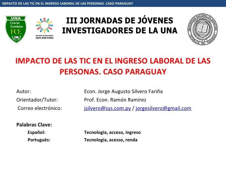 Jorge Silvero Presentacion Tic Augm09