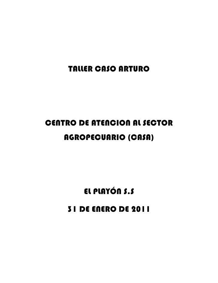 TALLER CASO ARTURO<br />CENTRO DE ATENCION AL SECTOR AGROPECUARIO (CASA)<br />EL PLAYÓN S.S<br />31 DE ENERO DE 2011<br />...