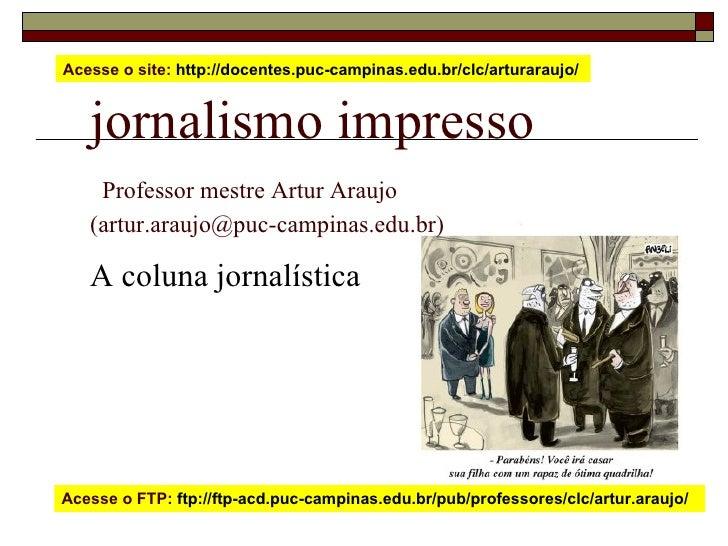 A coluna jornalística