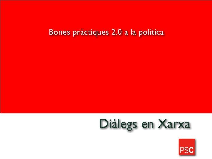 Hitòria TIC del PSC (Partit dels Socialistes de Catalunya)