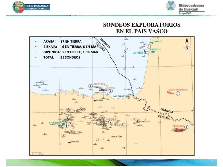 SONDEOS EXPLORATORIOS                                             EN EL PAIS VASCO•   ARABA:37ENTIERRA•   BIZKAIA:...