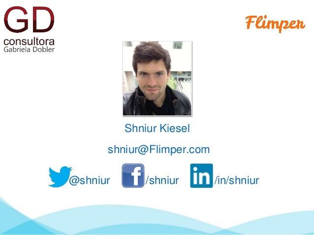 Shniur Kiesel  shniur@Flimper.com  @shniur /shniur /in/shniur