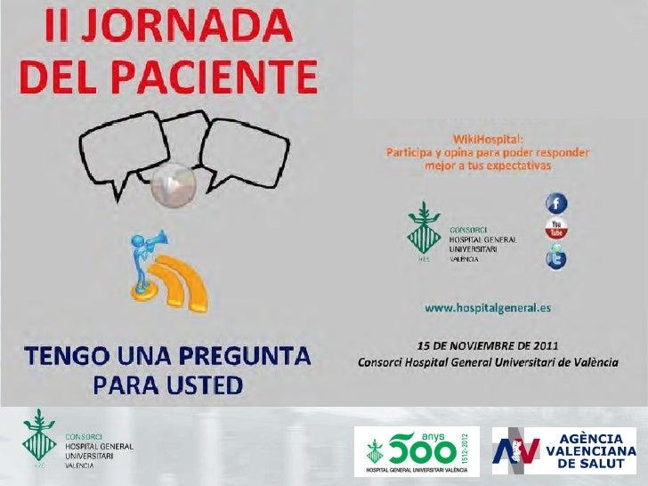 Presentación de la II Jornada del Paciente que celebraremos 15 noviembre
