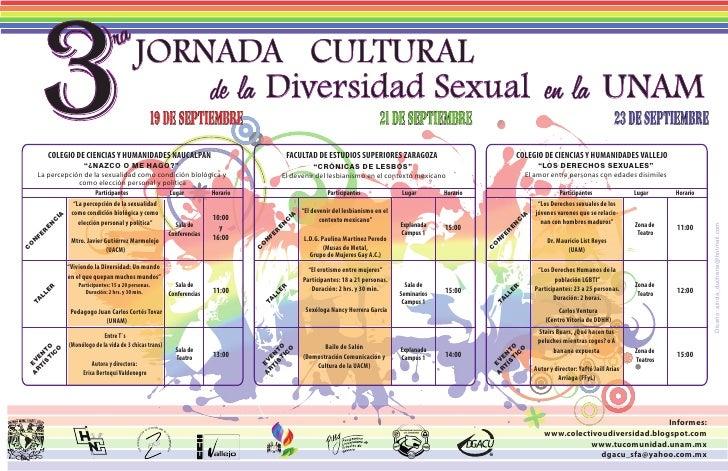 3                                    ra JORNADA CULTURAL                                           de la Diversidad Sexual...