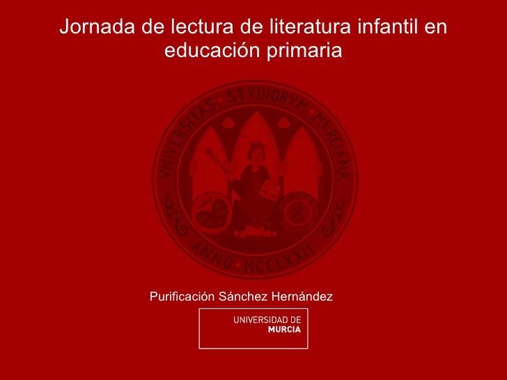 Jornada lectura lit. infantil September 28, 2011