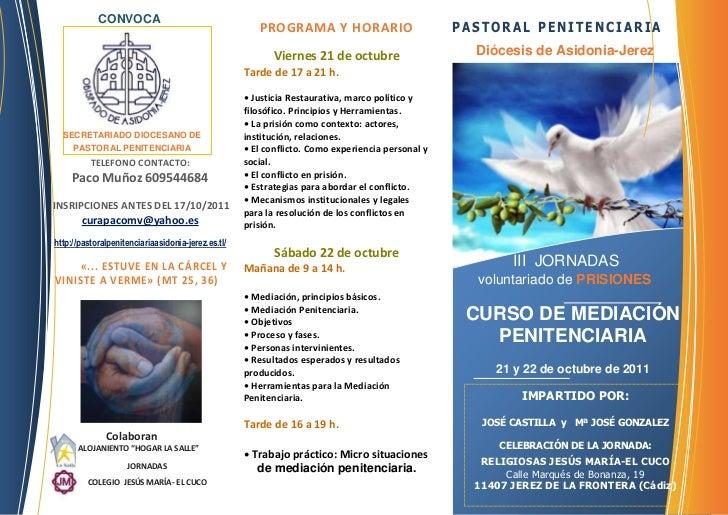 Jornada mediaci n penitenciaria for Mediacion penitenciaria