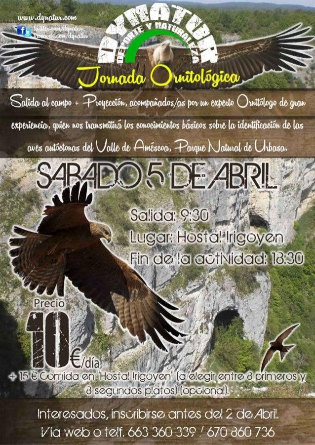 53  Jornada Ornitológica2  Parque Natural  Urbasa 5 Abril de 2014