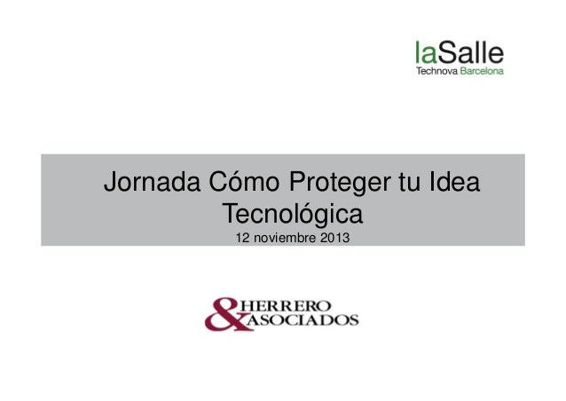 Jornada patentes 12 11 2013