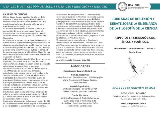 Jornadas epistemología UBA - Cátedra Silvia Rivera