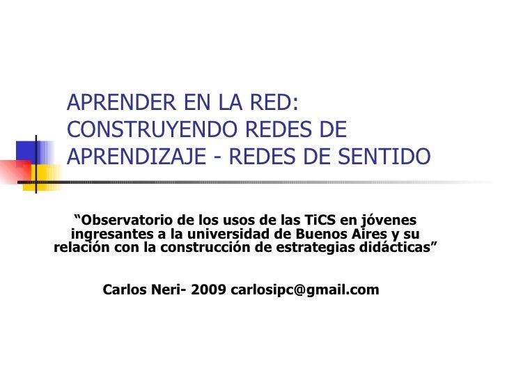 APRENDER EN LA RED: