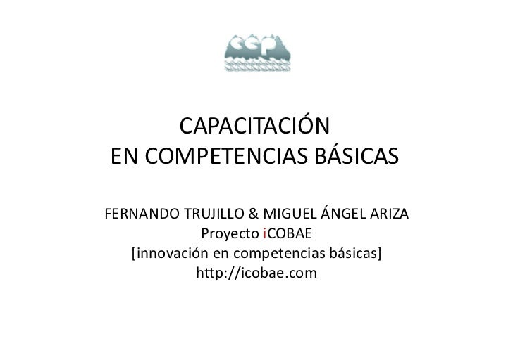 Resumen proyecto iCOBAE_Jornadas de Capacitación en Competencias Básicas