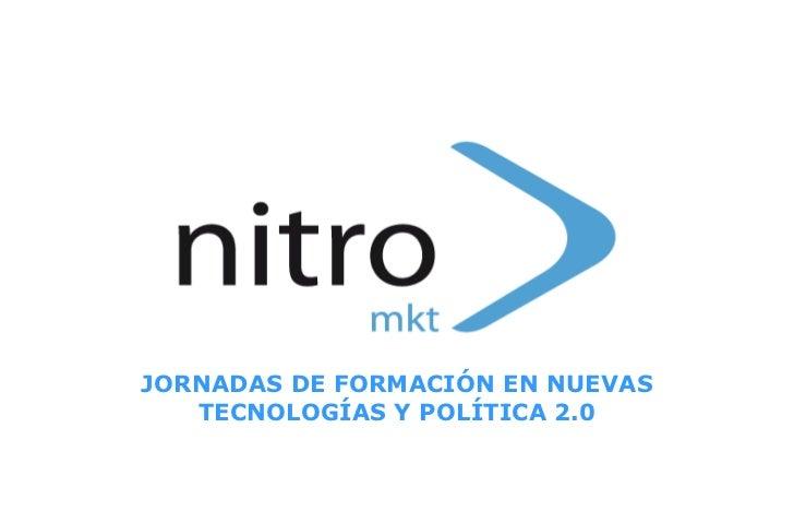 JORNADAS DE FORMACIÓN EN NUEVAS TECNOLOGÍAS Y POLÍTICA 2.0