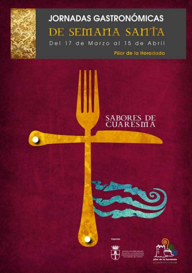 """Jornadas gastronómicas """"Sabores de Cuaresma"""""""