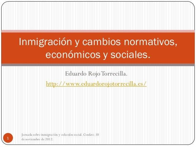 Jornada sobre inmigración y cohesión social. CONFAVC. 10 de noviembre de 2012.