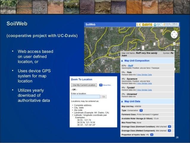 Michael robotham use of soils information for land for Soil web survey
