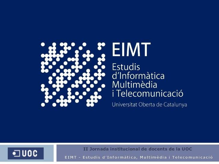 II Jornada institucional de  docents  de la UOC