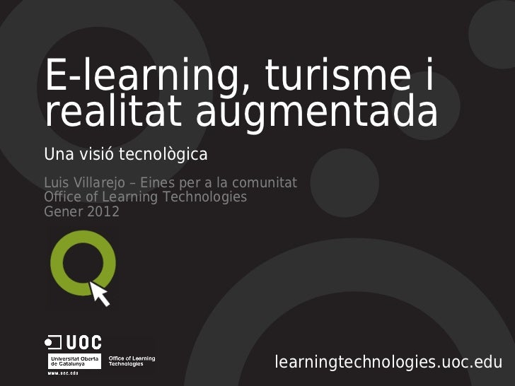 Jornades turisme i e-learning